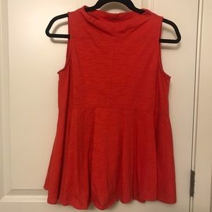 Anthropologie coral top